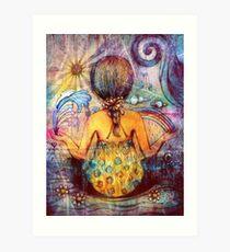 Rainbow Meditation Art Print