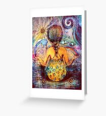 Rainbow Meditation Greeting Card