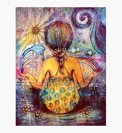Rainbow Meditation Photographic Print