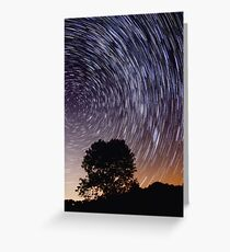 Star Trails Greeting Card