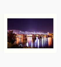 Purple People Bridge, Cincinnati, Ohio Art Print