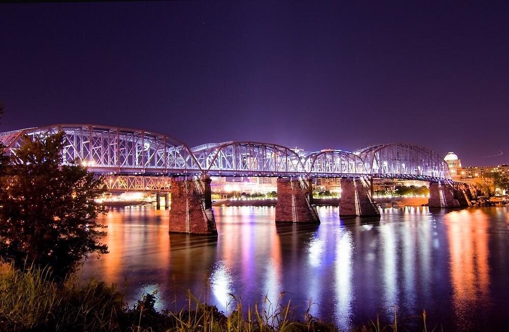 Purple People Bridge, Cincinnati, Ohio by Christa Binder