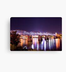 Purpurrote Leute-Brücke, Cincinnati, Ohio Leinwanddruck