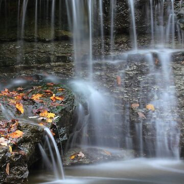 Waterfall at Sharon Woods, Hamilton County, ohio. by christacharlene