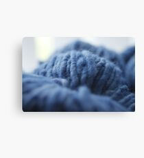 Blue Yarn Canvas Print