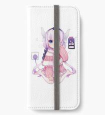 Maid Dragon - Kanna Aufladen iPhone Flip-Case/Hülle/Klebefolie