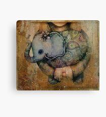 Paisley Elephant Canvas Print
