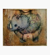 Paisley Elephant Photographic Print