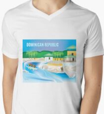 Dominican Republic - Skyline Illustration by Loose Petals T-Shirt