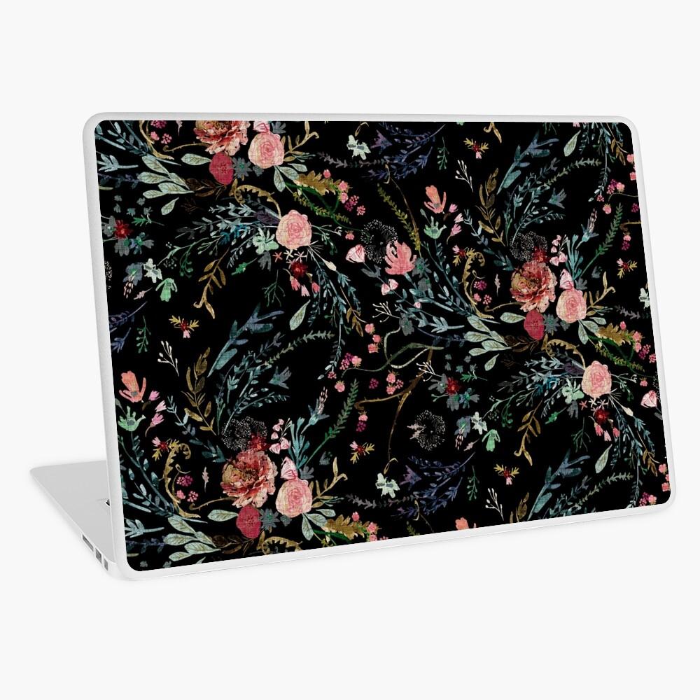 Midnight Floral Laptop Skin