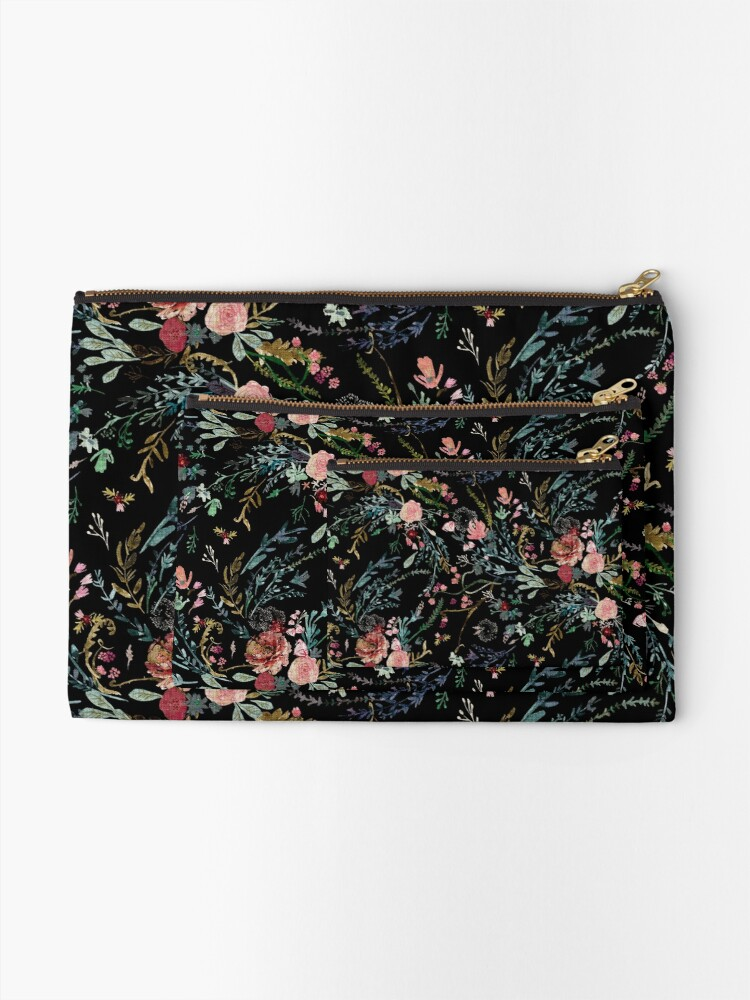 Alternate view of Midnight Floral Zipper Pouch