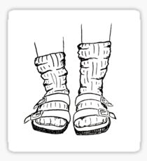 Woolly Socks and Birkenstocks Sticker