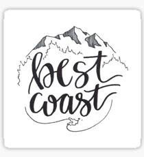 West Coast Best Coast Sticker