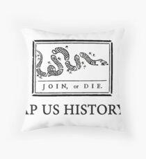 APUSH Shirt (Black Logo), Throw Pillow