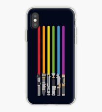 Lightsaber Rainbow iPhone Case