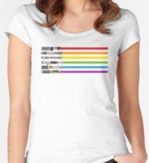 Lightsaber Rainbow Women's Fitted Scoop T-Shirt