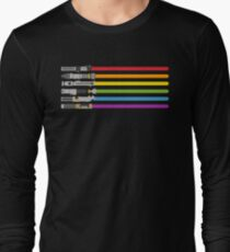Lightsaber Rainbow Long Sleeve T-Shirt