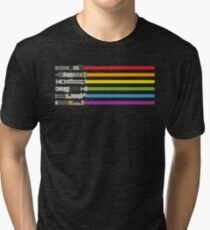 Lightsaber Rainbow Tri-blend T-Shirt