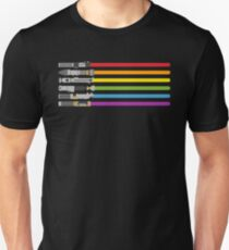 Lightsaber Rainbow T-shirt unisexe