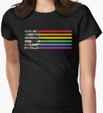 Lightsaber Rainbow Women's Fitted T-Shirt