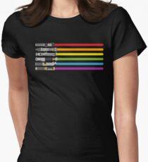 Lightsaber Rainbow Women's Fitted T-Shirt