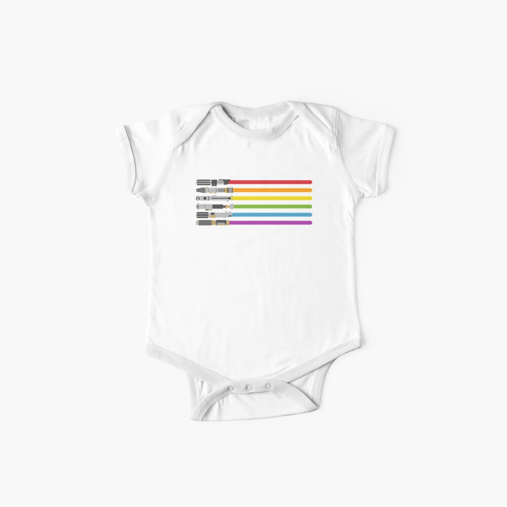 Lightsaber Rainbow Baby One-Pieces