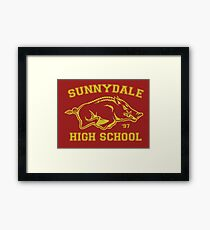 Sunnydale High Framed Print