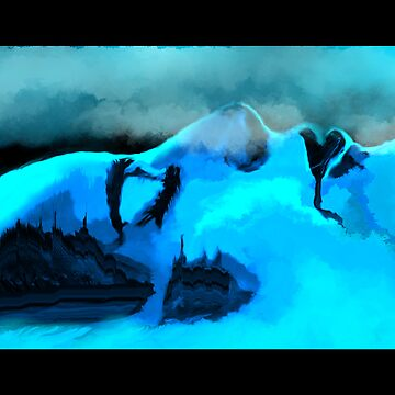 Avalanche on she mountain by herbe