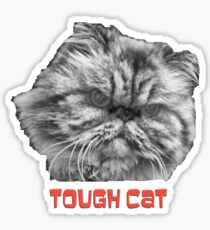Tough Cat Sticker