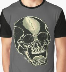 BLK SKULL - Art By Kev G Graphic T-Shirt