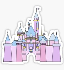 Pastel Princess Castle Sticker