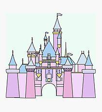 Pastel Princess Castle Photographic Print
