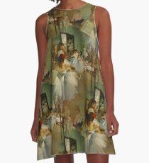 The Dance Class Print A-Line Dress
