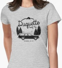 Duquette Family Vacation 2017 - Black Ink Womens Fitted T-Shirt
