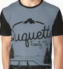 Duquette Family Vacation 2017 - Black Ink Graphic T-Shirt
