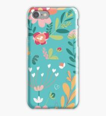 Turquoise Floral iPhone Case/Skin