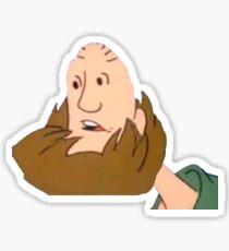 Upside-down shagfriend Sticker