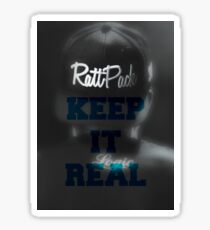 Logic-RattPack Keep It Real Hat Edit (Blue) Sticker