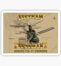 CH-47 Chinook Vietnam Veteran Sticker