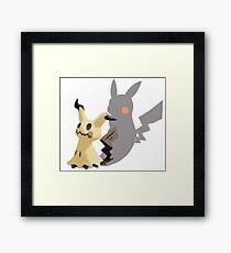 I'm Mimikyu, not Pikachu! Framed Print