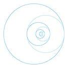 fibonacci circles by Neil Godding
