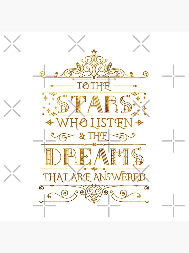 Zu den Sternen, die zuhören - weiß von stellaarts