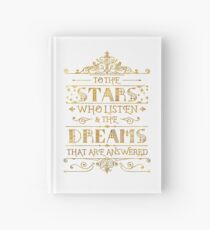 To the stars who listen - white Hardcover Journal