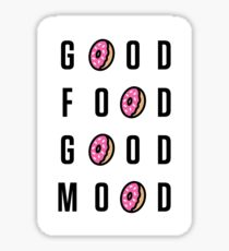Good Food Good Mood Sticker