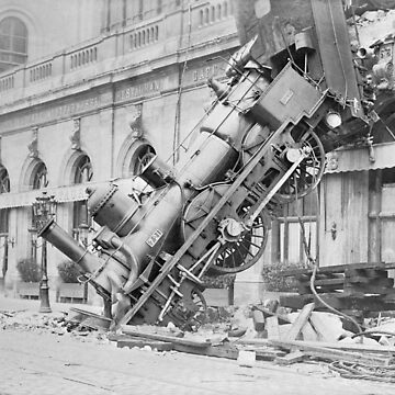 Train Wreck At Montparnasse Station - 1895 by warishellstore