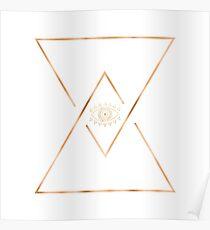 Mandala Gold Geometric Eye Poster