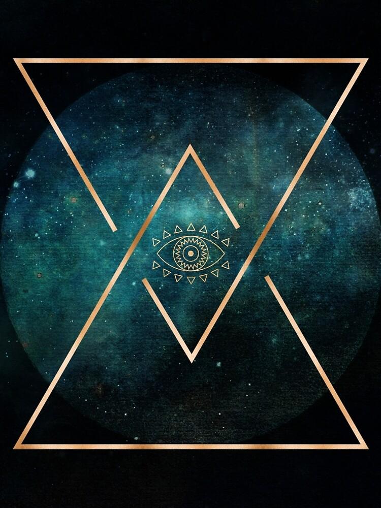 «Eye Moon - Mandala bohémien tribal géométrique» par naturemagick