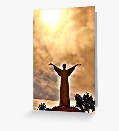 Christ the Redeemer Statue, Maratea, Italy Greeting Card
