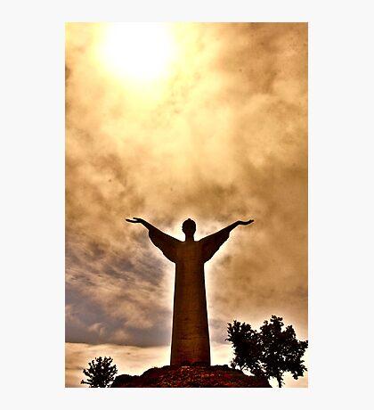 Christ the Redeemer Statue, Maratea, Italy Photographic Print