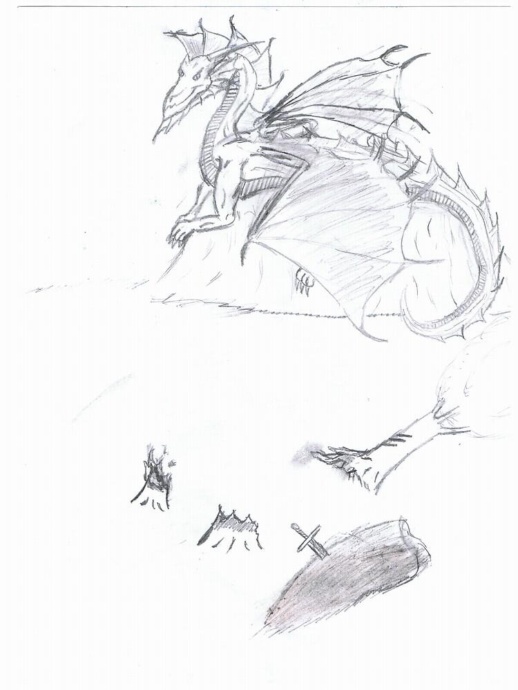 dragon rock by dragonart